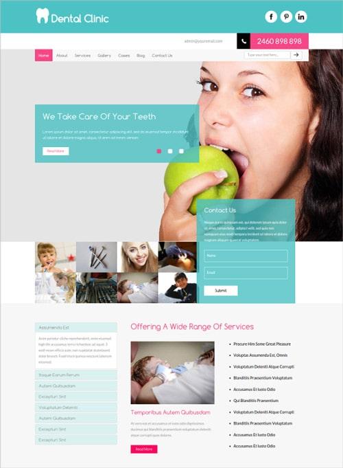 طراحی گرافیک سایت پزشکی