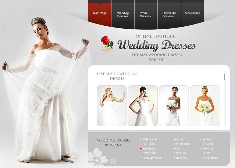 طراحی سایت خدمات عروسی